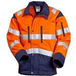 Куртка рабочая мужская летняя сигнальная (повышенной видимости) для дорожных рабочих 4676T-P154-77/15 со световозвращающими лентами в интернет-магазине swg.style